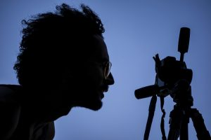 photographer, silhouette, camera